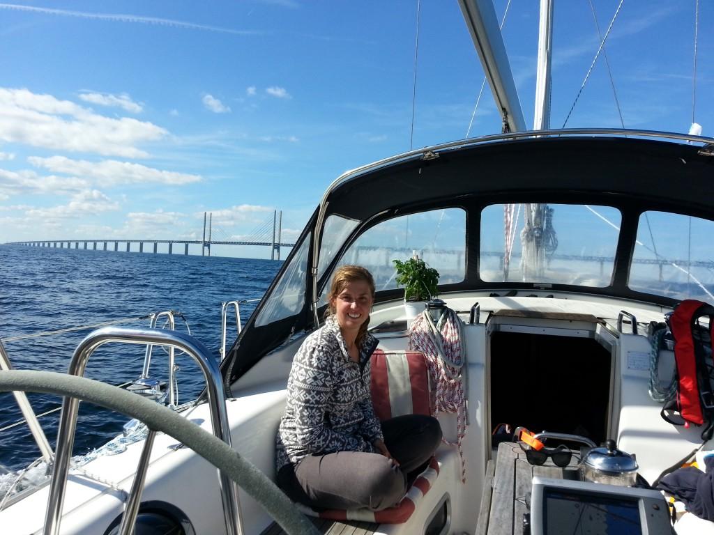 På väg under Öresundsbron för andra gången med Emma
