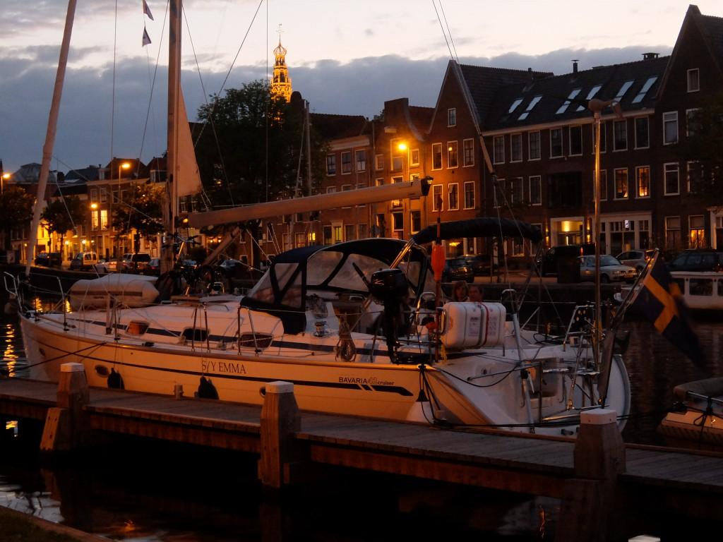 Bra bryggplats i Haarlem