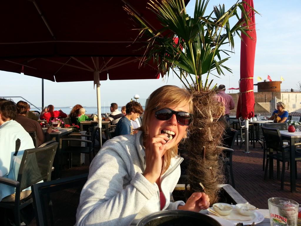 Zeeländska musslor i Vlissingen