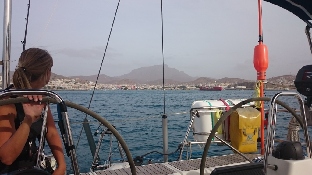 Leaving Mindelo.