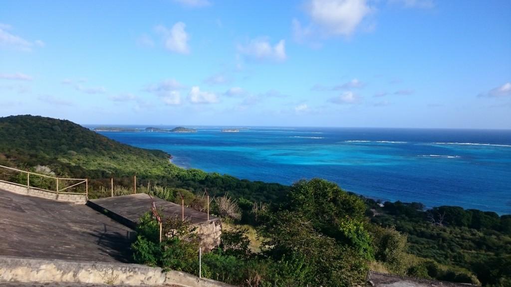 Utsikt över Tobago Cays.