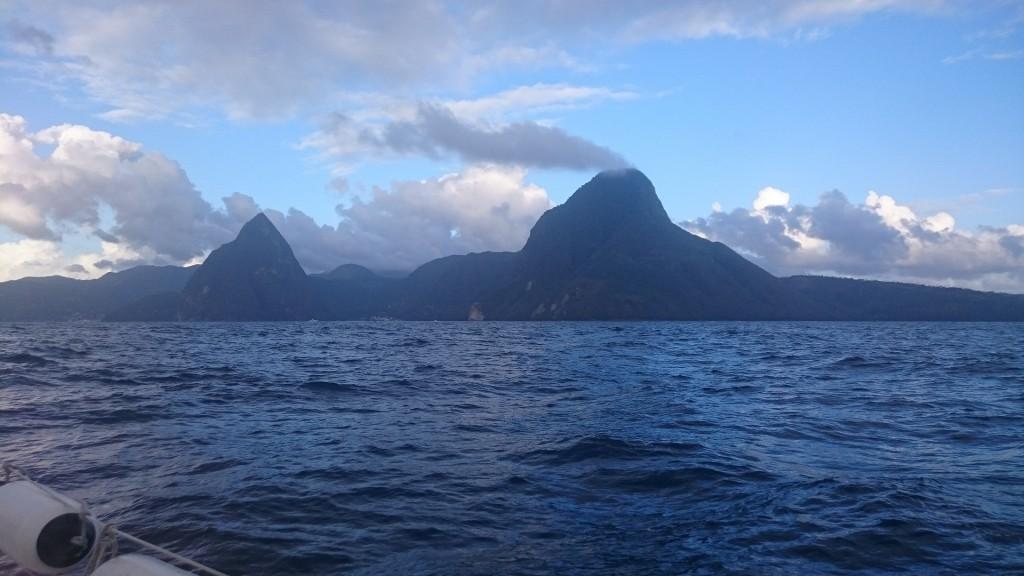 Insegling mot St Lucia.