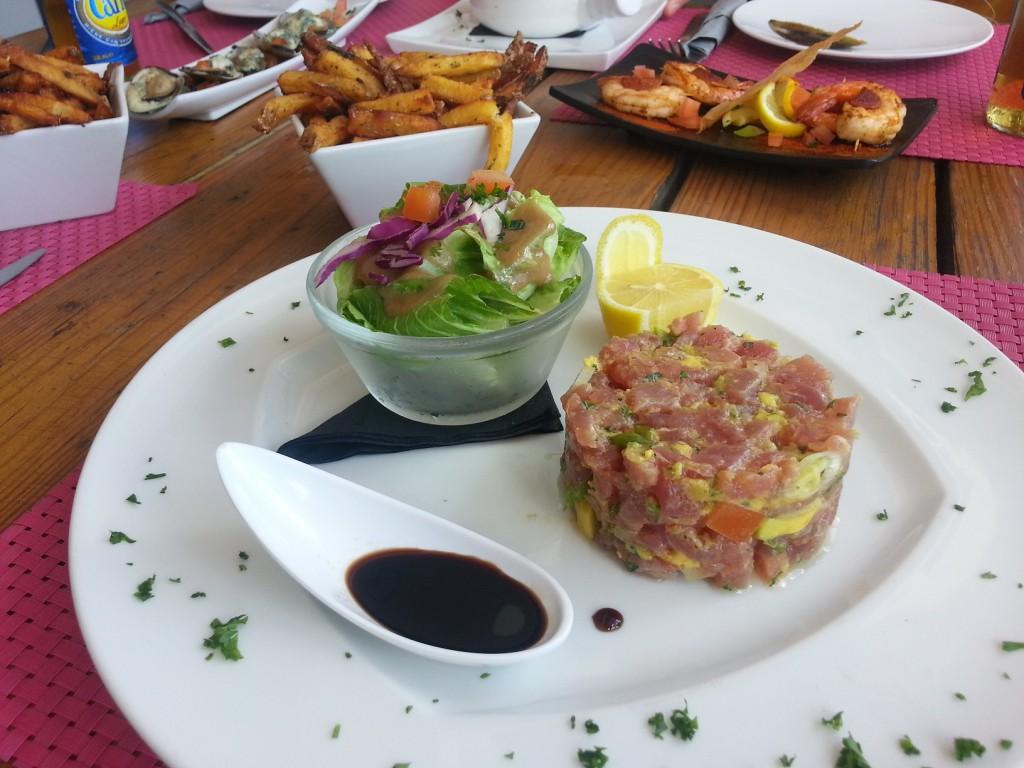 Återigen fantastisk mat på de franska öarna.