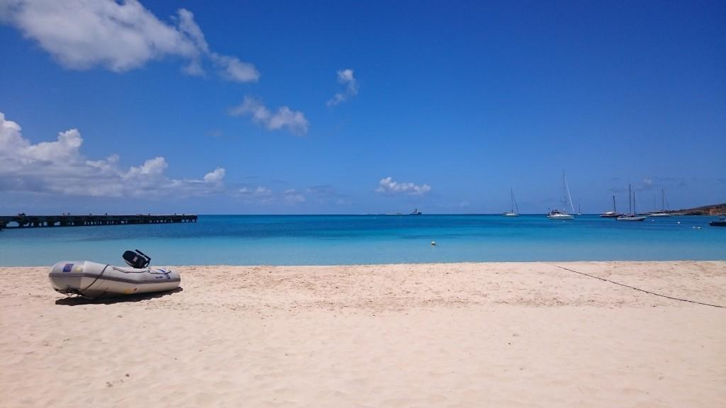 Utsikt över Road Bay, Anguilla.