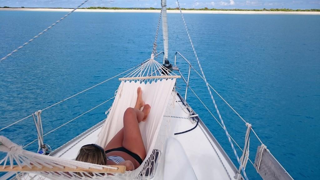 Lata dagar på Barbuda.