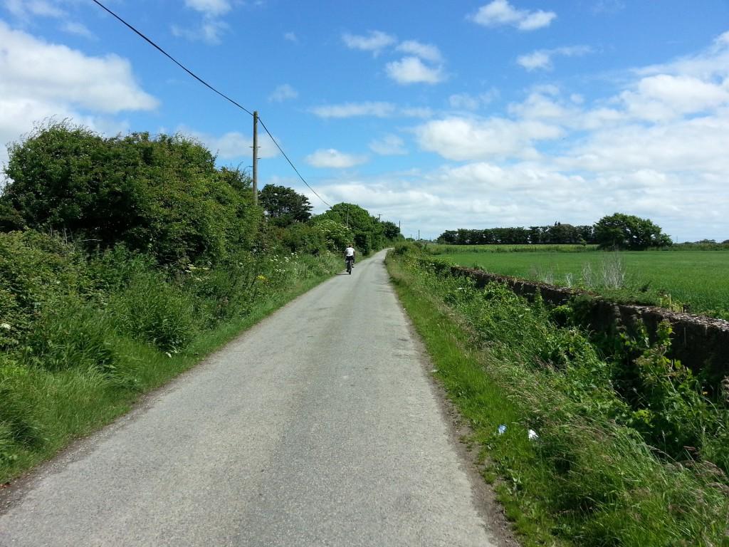 Cykeltur på Irländska landsbygden.