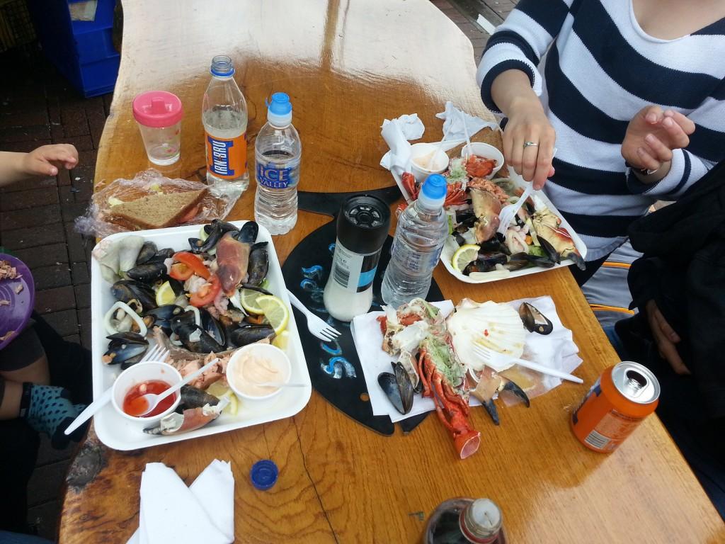 En del av utbudet från Oban Seafood Hut. Mums!